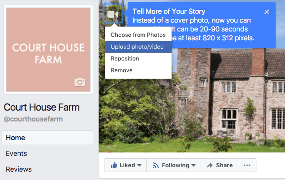 Court House Farm, Facebook, Cover Videos, Social Media News, Rixxo, Engagement, Facebook cover video