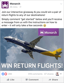Monarch In-Feed Bot Campaign by Rixxo Comments