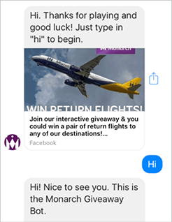 Monarch In-Feed Bot Campaign by Rixxo Mobile View