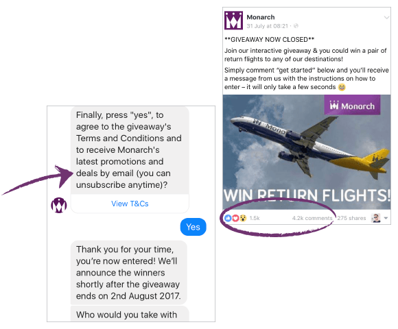 monarch-facebook-bot-growth