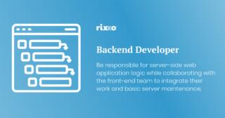 Backend Developer | Full time | £40k + benefits