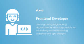 Frontend Developer | Full time | £40k + benefits