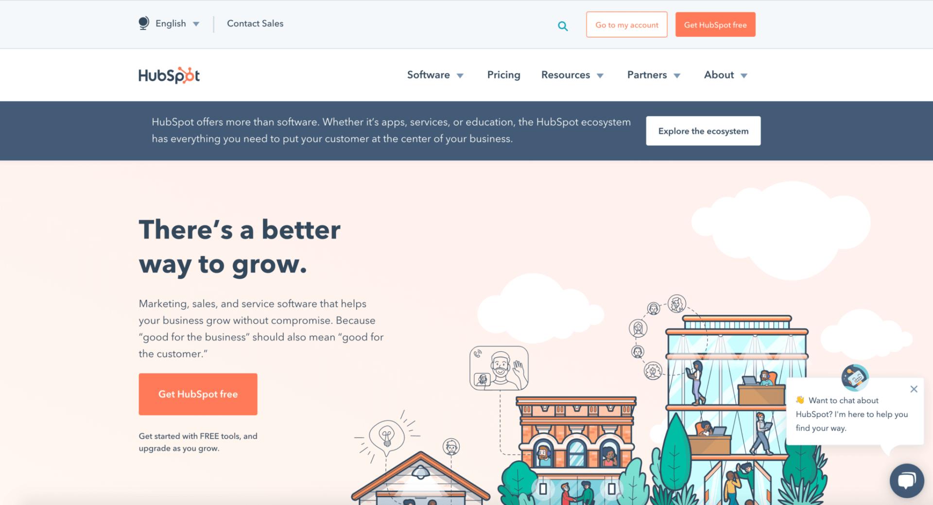 Hubspot B2B Website