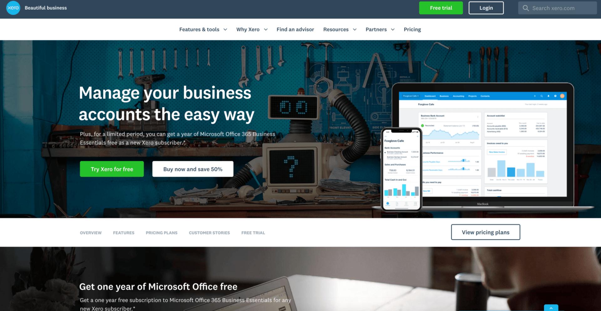 Xero Accounting B2B Website