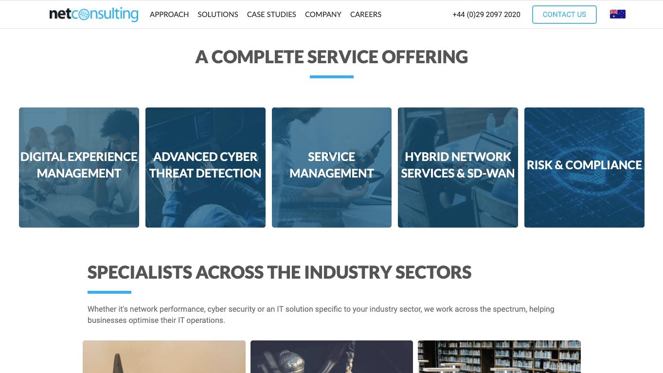 NetConsulting IT B2B Website