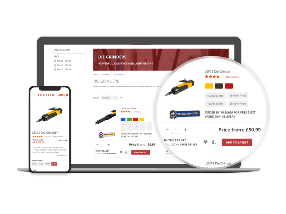 Magento B2B eCommerce website
