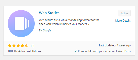 Google Web Story WordPress Plugin
