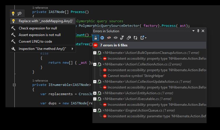 resharper ide plugin for code security