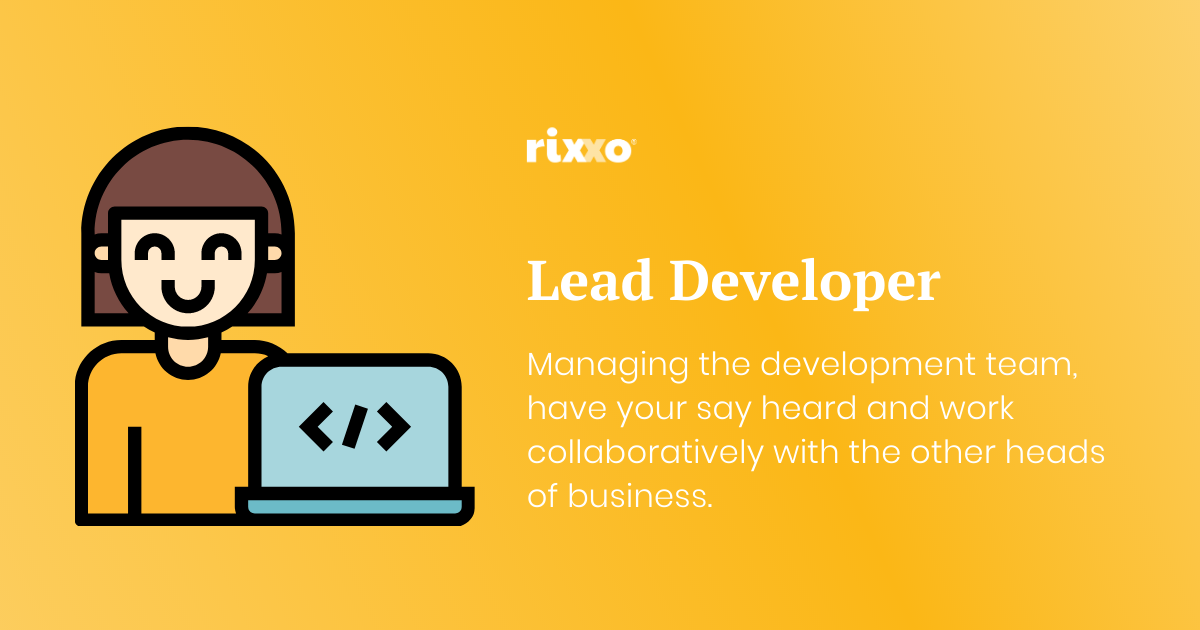 Lead Developer Role Bristol Rixxo