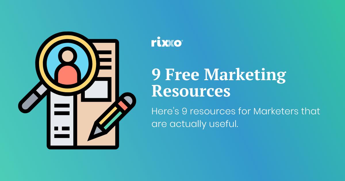 Free marketing resources