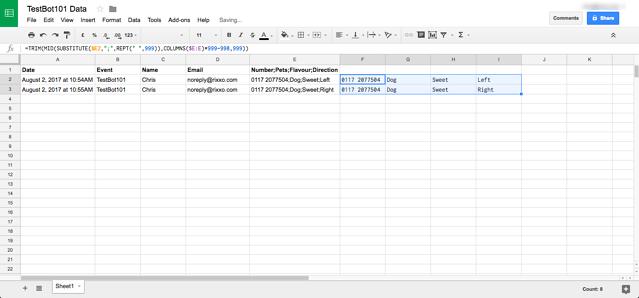 IFTT Chatfuel & Google Sheets Integration4-4