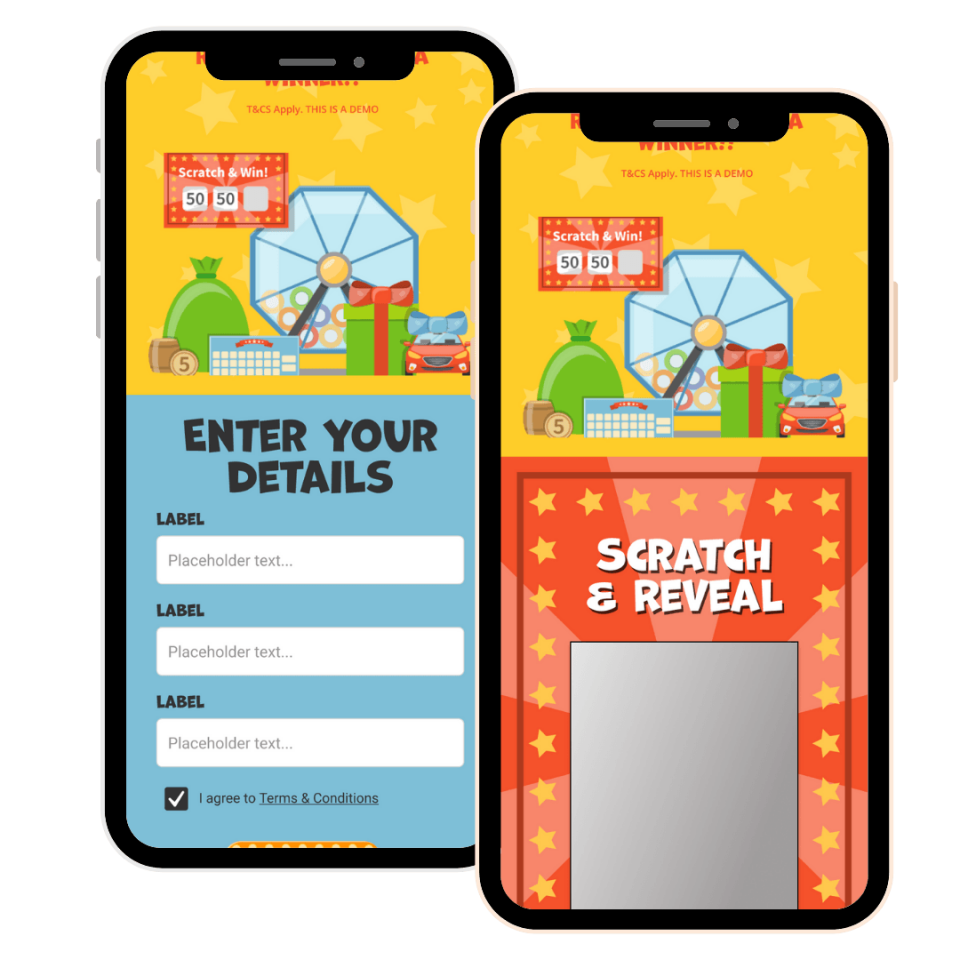 Wyng Scratch and Win Mobile Mockup