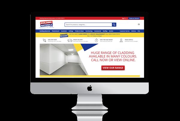 Building Materials Magento Website Mockup | Magento Agency Bristol