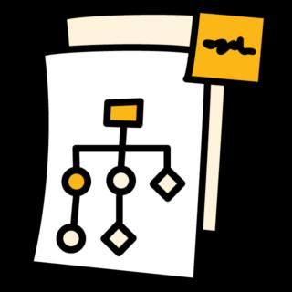 Char Diagram Flow Post-it