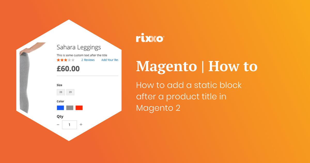 How to add a static block after a product title in Magento 2