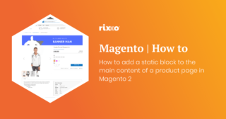How to add a static block to the main content of a product page in Magento 2