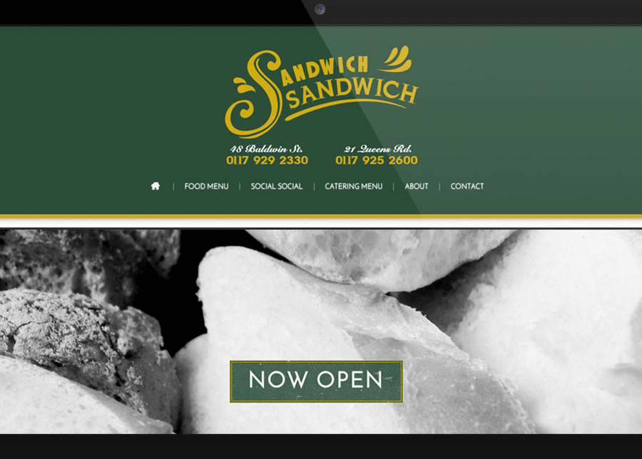 Sandwich shop website  | Graphic Design Agency Bristol