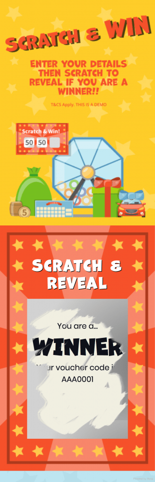 Scratch and Win - A mobile responsive scratch card