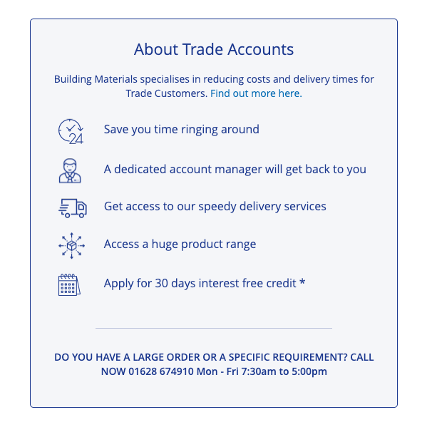 Trade Account Call to Action | Graphic Design Agency Bristol