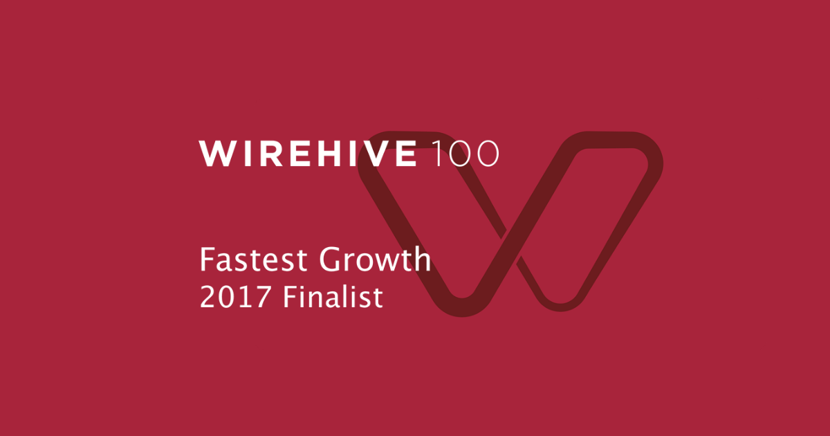 We're a finalist! Wirehive 100 Fastest Growth Agency Award