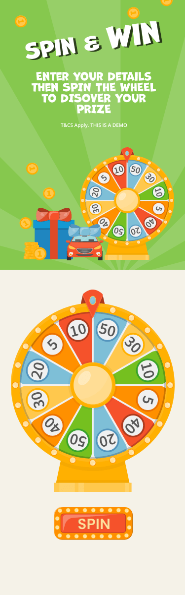Wheel of Fortune - A mobile responsive spin the wheel